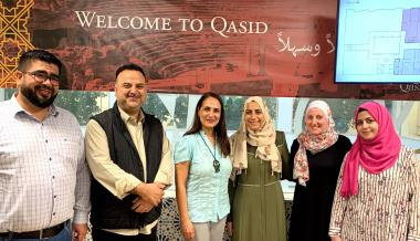CASA Stateside Director Dr. Sonia Shiri (left center) with Qasid faculty.